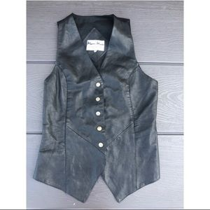 Jackets & Blazers - Button down leather vest